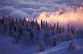 Le Crët d'Eau recouvert de neige France