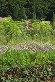 Jardin potager fleuri du château de Miromesnil