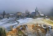 Village des Bouchoux en hiver Jura France