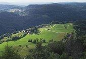 Paysage de la Vallée du Tacon Jura France