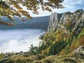 Paysage du Creux du Van Jura France