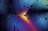 Cristal de bicarbonate de soude en microscopie
