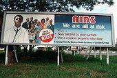 Panneau d'information sur le Sida Ghana