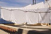 Linen drying Capri Italy