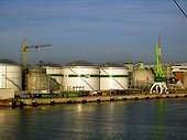 Gas installation of the port of Claipeda Lithuania[AT] ; Estuary on the Baltic[AT]