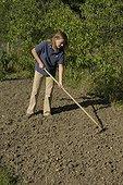 Recouvrir les graines semées pour l'engrais vert
