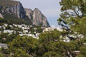 The town of Capri in Campania Italy
