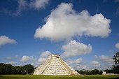 Overall picture on the ruins of a Maya pyramid Mexico ; Chichen Itza, Province of Yucatan.