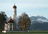 Eglise Die Sankt Kolman à Schwangau en Bavière Allemagne