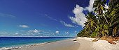 Tropical beach of the Anse Victorin Frigate Island Seychelle ; Voted by the London Sunday Times as the world's best beach.<br>@ Frigate (Island)