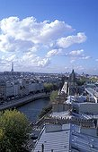 The Seine river along the City Island Paris France