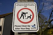 Please clean up after your dog sign Woodmancote UK