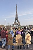 Demonstration for the Earth at theTrocadéro in ParisFrance