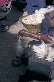 Woman spinning wool Mustang Nepal