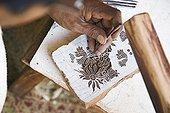 Painting traditional handicraft Indian Jaipur