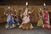 Women participating in a traditional dance Rajasthan
