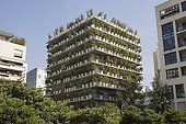 """Wall vegetation on the property """"Flower Tower"""" Paris France"""