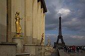 Eiffel Tower since the Trocadero palace Paris