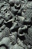 Washing and twisted lava Santiago island Galapagos ; Site : Sulivan Bay