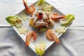 Salade de Crevettes et fruits