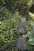 Round billet stair at Jardin du fond de l'or