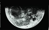 Last quarter of Moon viewn by telescope