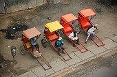 Push-push awaiting customers Antsirabe Madagascar