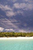Tropical beach and lagoon New Caledonia