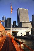 Pier of boat ferry to Staten Island New York