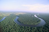 Air shot of the river Sinnamary French Guiana