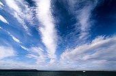Clouds in july sky Bathurst island Canada