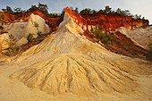 Ochre quarry of Rustrel Vaucluse France