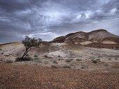 Stormy sky over Breakaways Australia
