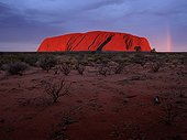 Sunset on Ayers Rock Australia