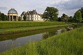 Basin in the garden of the Cormatin castle Bourgogne