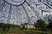 Iron-wrought dome in the garden of the Cormatin castle