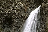 Ray-Pic cascade and basalt columns Ardèche Franche