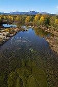 River Chassezac in autumn Monts d'Ardèche NP France