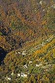 Cévennes hamlet in autumn Ardèche France