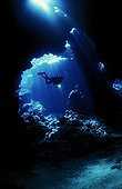 The caves of Shaab Claudio in the Red Sea Egypt ; Location : St John's archipelago