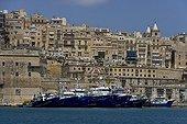 Thoniers à l'ancre dans le port de La Valette Malte