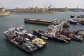 Thoniers dans le port de La Valette Malte