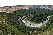 Overview of the Ardeche Gorge