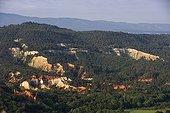 Rustrel Colorado career of ochre Provence France