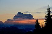 Pelmo Mount in Dolomites mass in the Alps Italy ; From Ombretta Valley