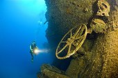 Diver explore Wheels and Wreckage of HIJMS Nagato Battleship
