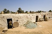 Workshops potters seen from the outside Djerba Tunisia
