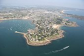 Pointe of Port Navalo on the Rhuys peninsula France