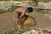 Artisan mine for research of semi-precious stonesSri Lanka