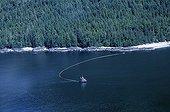 Chalutier capturant des harengs Frederik Sound Alaska USA